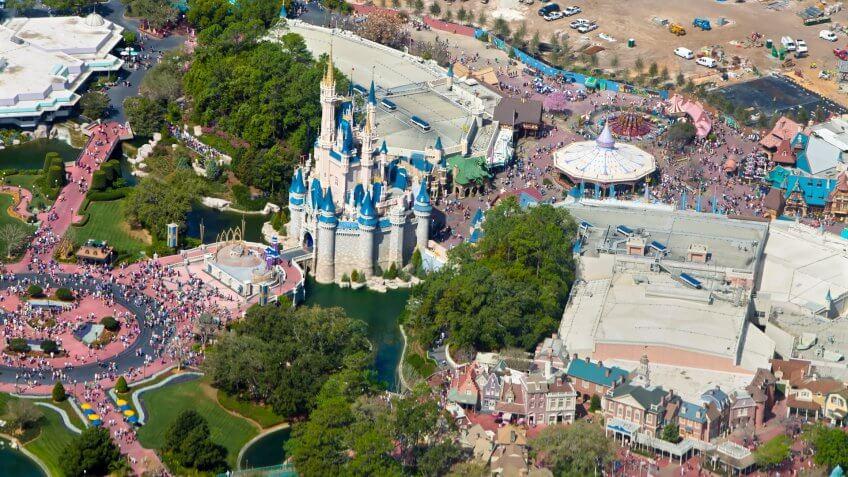 Aerial view of Magic Kingdom in Walt Disney World