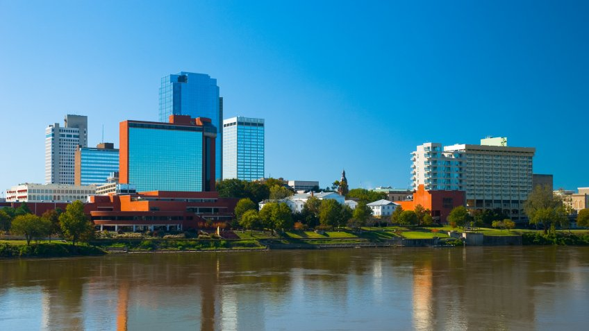 Little Rock's downtown skyline