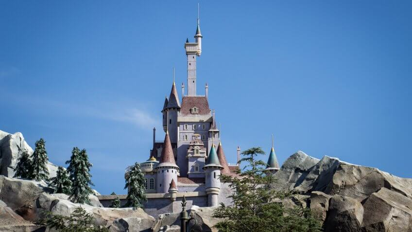 Beast's castle from Beauty and the Beast at Walt Disney World