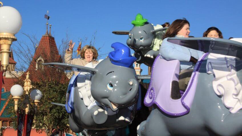 Dumbo the Flying Elephant attraction at Walt Disney World