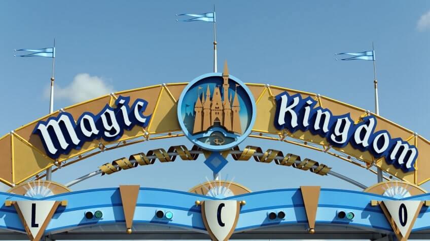 Magic Kingdom entrance at Walt Disney World