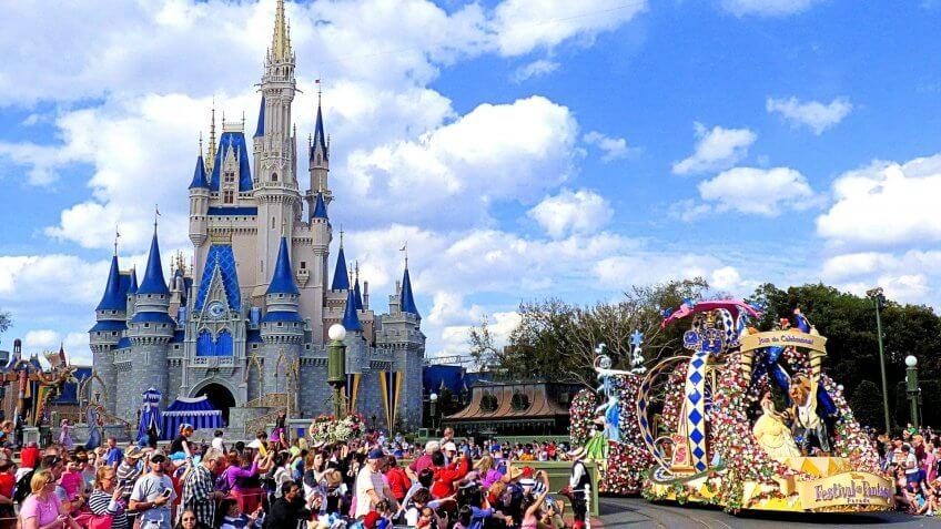 Disney's Festival of Fantasy Parade at Magic Kingdom Princess Garden Unit