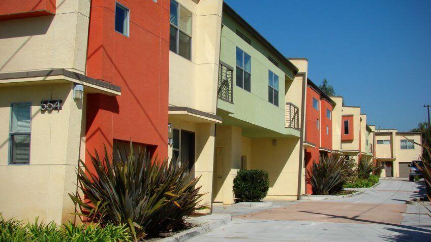 colorful apartment building