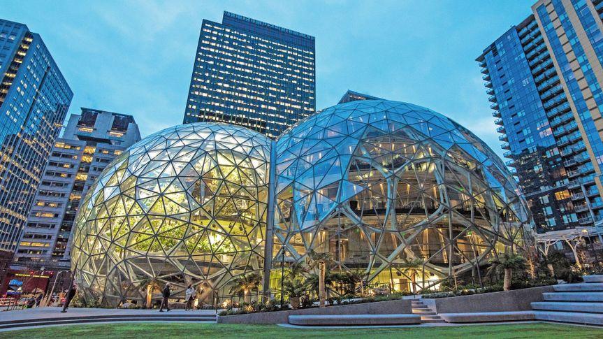 Amazon Headquarters in Seattle, washington