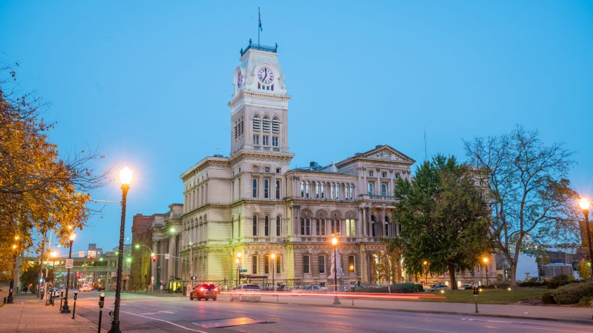 The old City Hall in downtown Louisville, Kentucky USA.