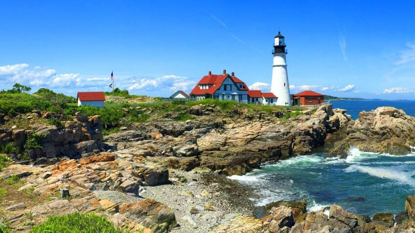 Portland Head Lighthouse Maine, USA.