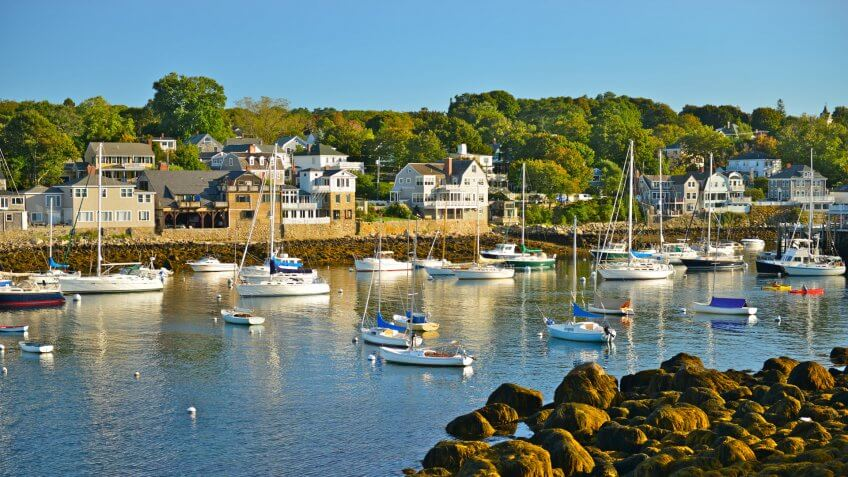 Rockport harbor, Massachusetts, USA.