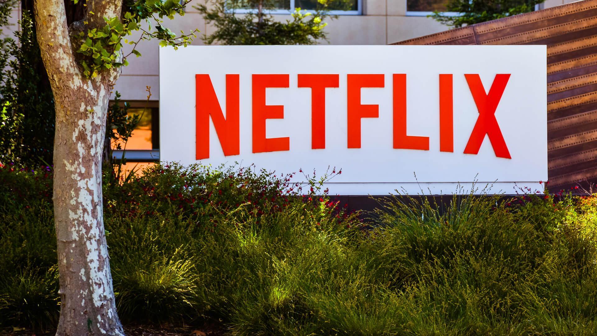 Netflix building sign