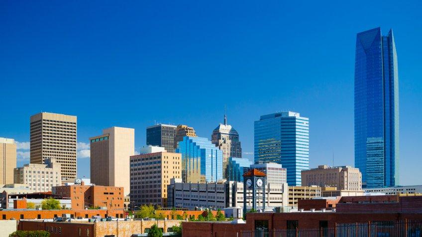 Oklahoma downtown skyline