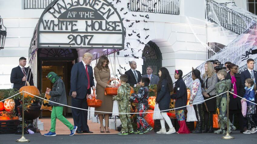 United States President Donald J. Trump and First Lady Melania Trump host Halloween