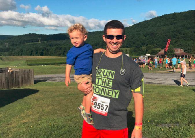 running a marathon, exercise