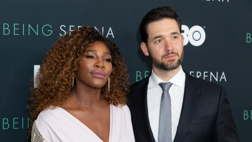 Serena Williams and Alexis Ohanian attend Being Serena premiere