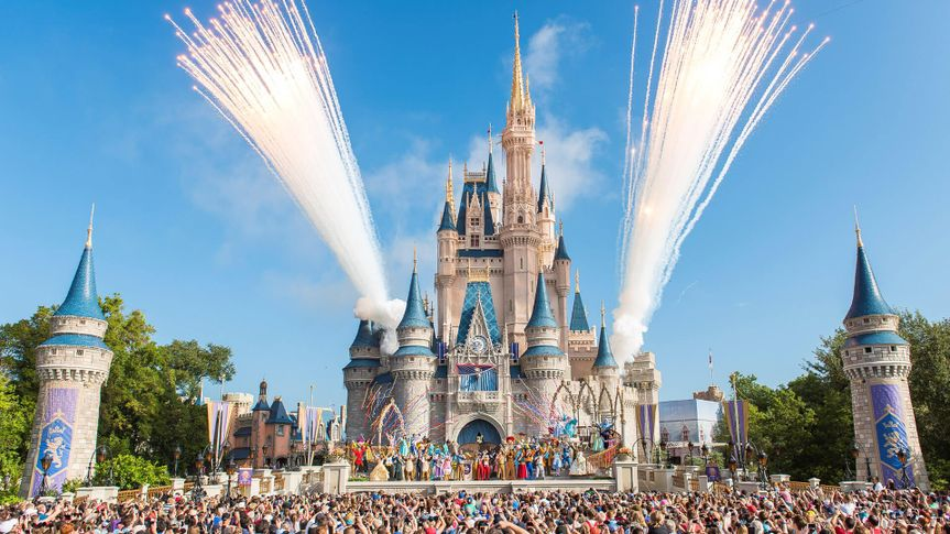 Stocks, investment, business, shares, dividends, worth, value, stock market, shareholder, Stocks, investment, business, shares, dividends, worth, value, stock market, shareholder, Walt Disney World Resort marked its 45th anniversary on October 1, 2016 in Lake Buena Vista, Florida.