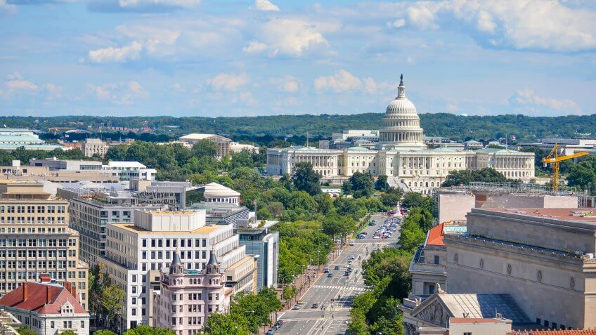 Washington DC with US capital