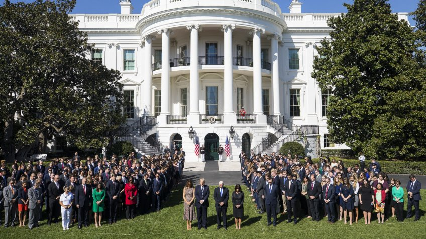 US President Donald J. Trump and White House Staff
