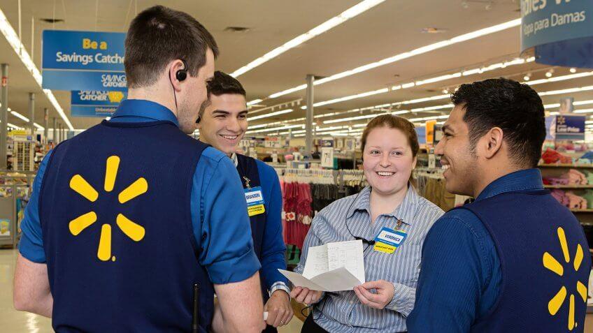 Walmart employees.