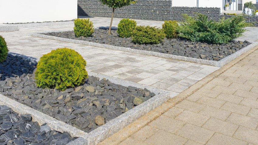 Modern garden design.