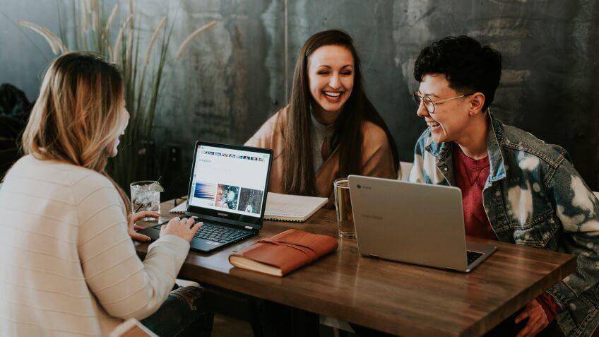 colleagues, coworkers, ladies, millennials, women