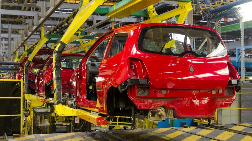 Red vehicles in production