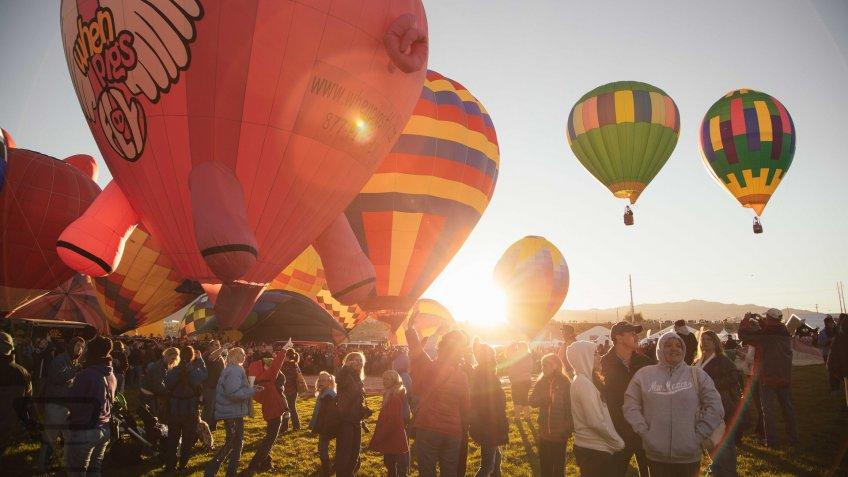 Albuquerque New Mexico hot air balloons