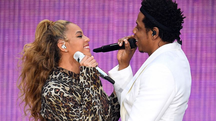 Photo by James Gourley/PictureGroup/REX/Shutterstock (9716444a)Beyonce Knowles and Jay ZBeyonce and Jay-Z in concert, 'On The Run II Tour', The London Stadium, UK - 16 Jun 2018.