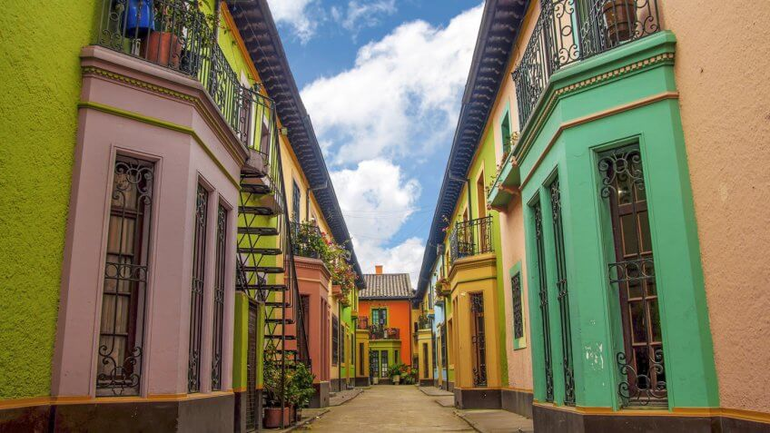 Historic Colorful Buildings.