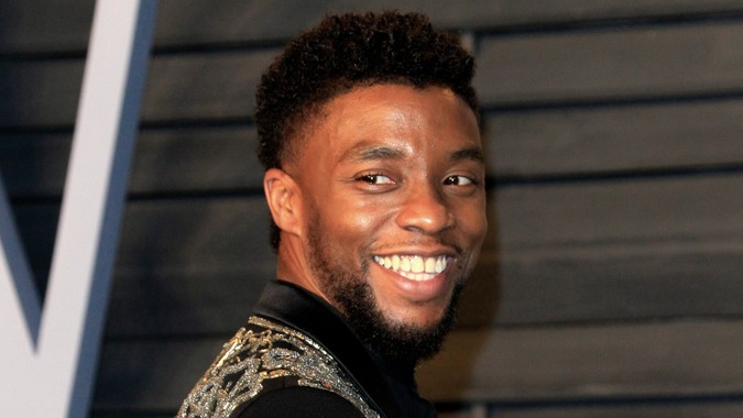 LOS ANGELES - MAR 4: Chadwick Boseman at the 24th Vanity Fair Oscar After-Party at the Wallis Annenberg Center for the Performing Arts on March 4, 2018 in Beverly Hills, CA.
