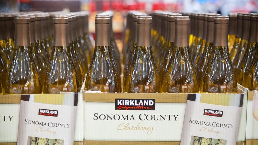 Costco Kirkland Signature Sonoma County Chardonnay.