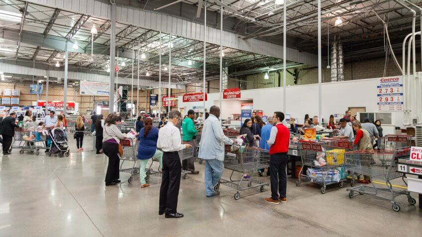 Costco check out line