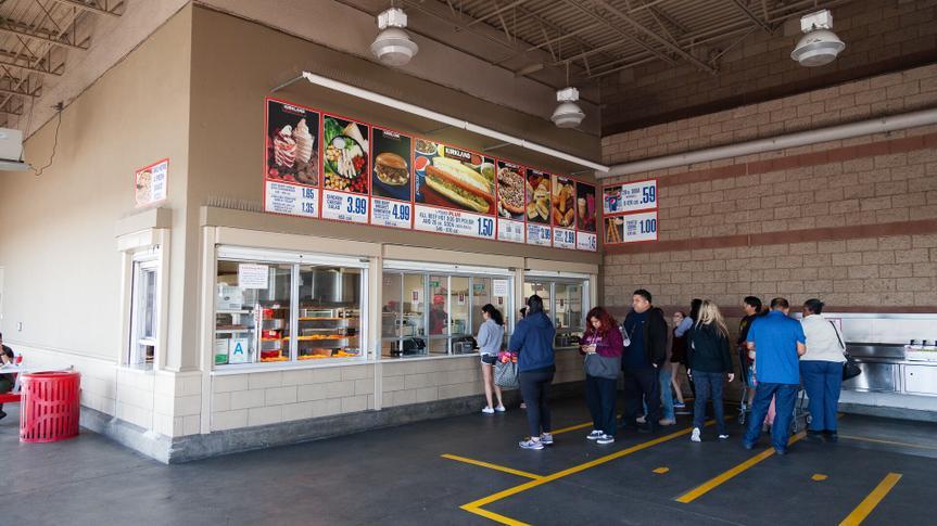 Costco outdoor food court