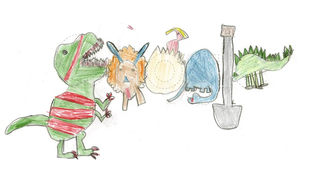 Google Gave $30,000 to a 7-Year-Old for a Dinosaur Doodle