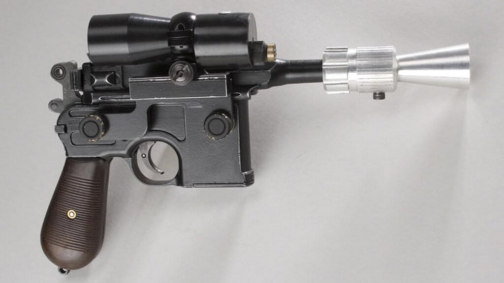 Mandatory Credit: Photo by Solent News/REX/Shutterstock (742443i)Original Han Solo blaster.