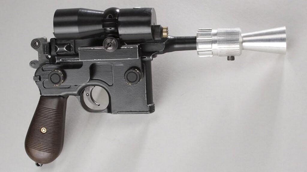 Mandatory Credit: Photo by Solent News/REX/Shutterstock (742443i)Original Han Solo blaster.