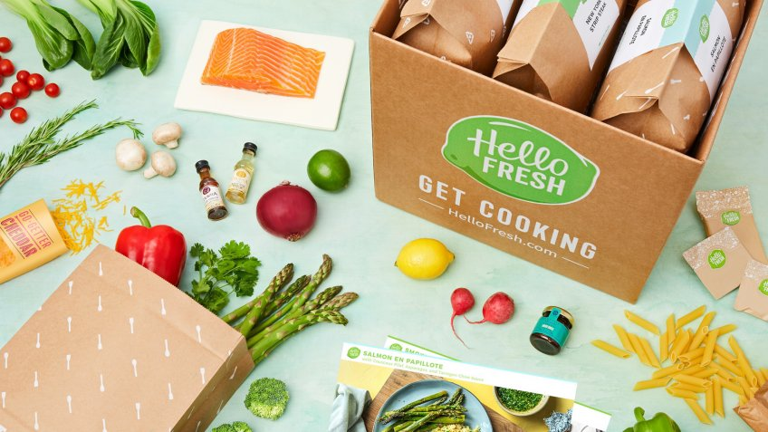 HelloFresh meal kit and ingredients