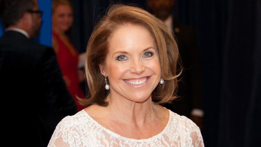 Katie Couric arrives at the White House Correspondents� Association Dinner May 3, 2014 in Washington, DC.