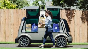 This Van Will Drop Groceries Off at Your Doorstep — by Itself