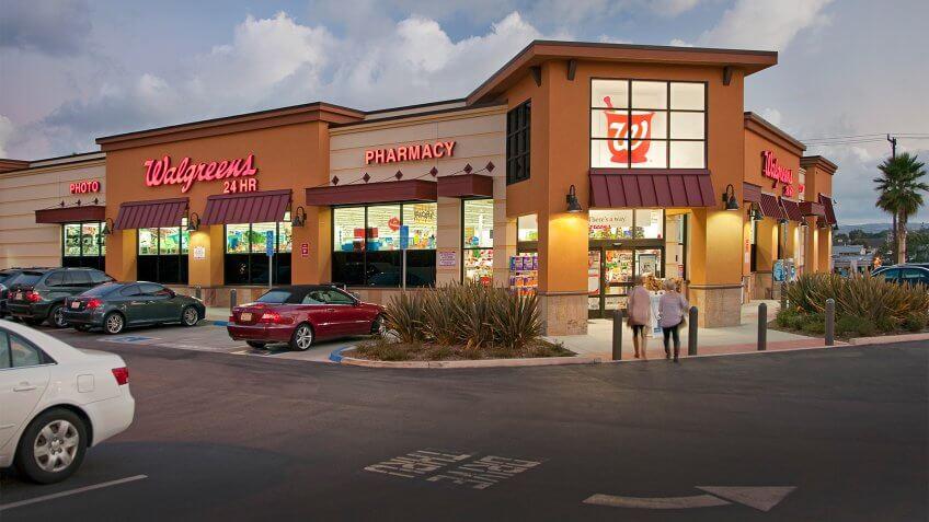 Walgreens store located in Manhattan Beach, California