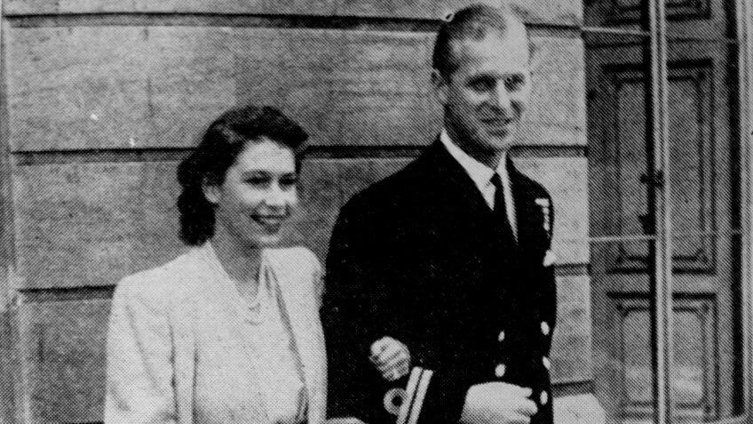 Princess Elizabeth with Prince Philip