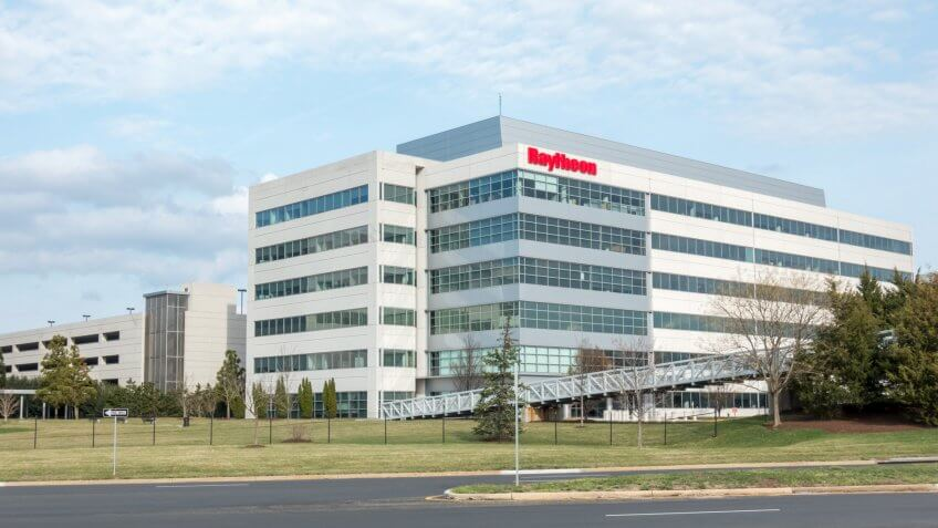 Raytheon office building in Sterling Virginia.