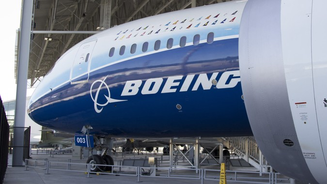 Seattle, WA Aug 25, 2017 - The first 787 Dreamliner on display at the Boeing Museum of Flight.