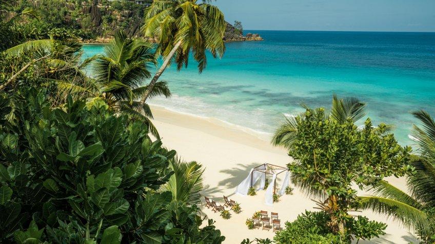 Seychelles beach at a Four Seasons Resort