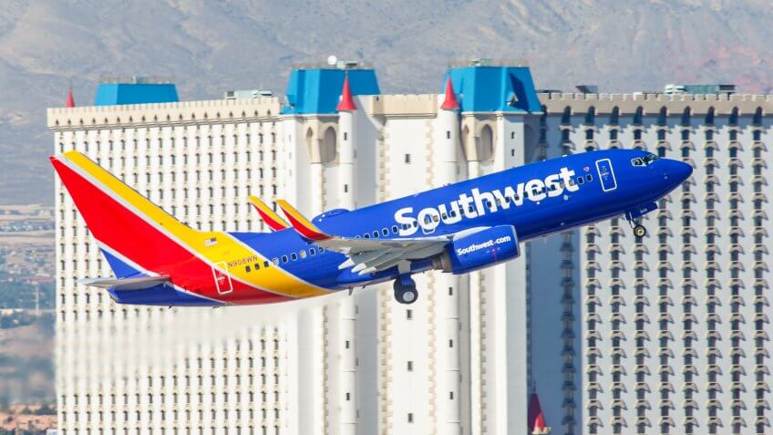 Southwest airlines in Las Vegas
