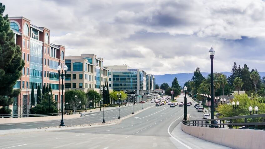 Sunnyvale California street during the day