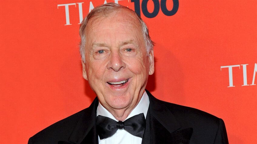 Mandatory Credit: Photo by Peter Foley/EPA/REX/Shutterstock (7816119d)Us Businessman T-boone Pickens Attends the Time 100 Gala a Celebration of 'Time' Magazine's 100 Most Influential People in the World in New York Usa 05 May 2009Usa Time 100 - May 2009.