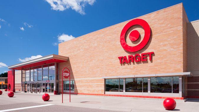 Exterior view of Target chain store in Minnetonka, Minnesota.