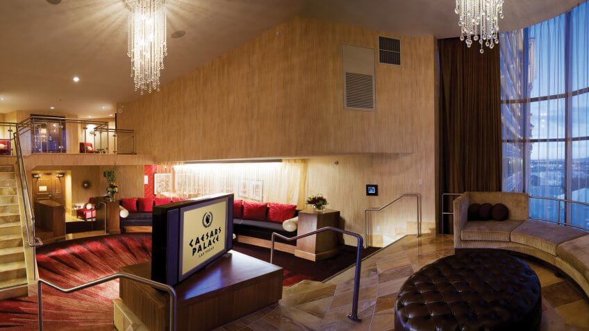 suite in Caesars Palace hotel