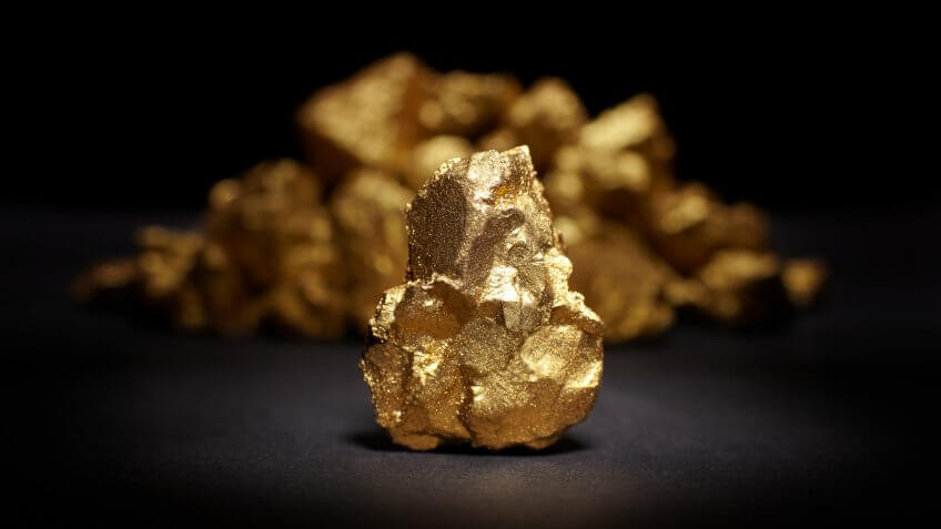 precious metal gold nugget