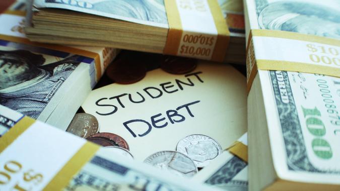Student Debt Stock Photo.