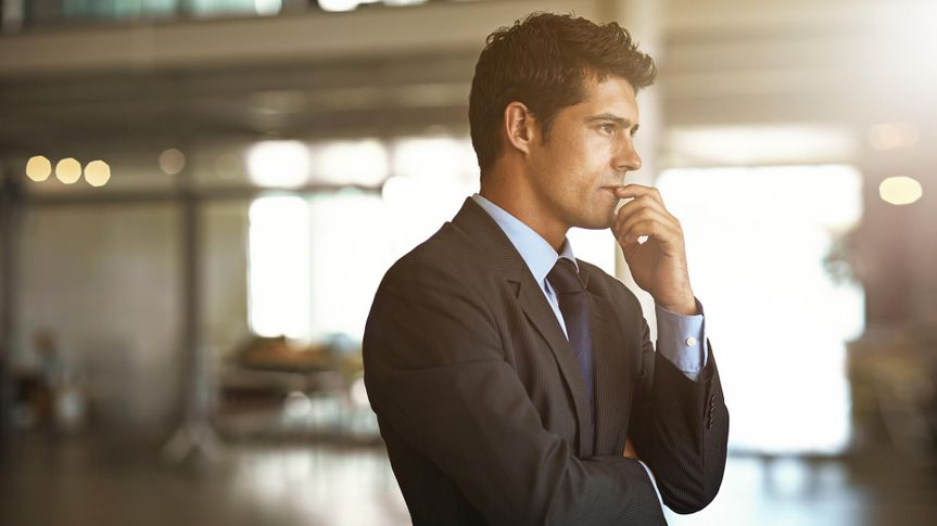 businessman looking stressed in the officehttp://195.