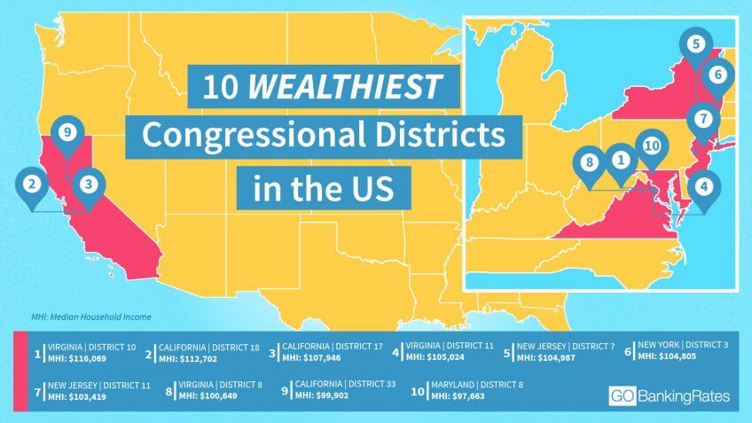 These Are the Wealthiest Congressional Districts Across America ...